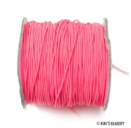 1 meter Elastiek roze 1mm