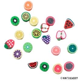 10 stuks Fruitmix 7~12 x 8~10mm kralen