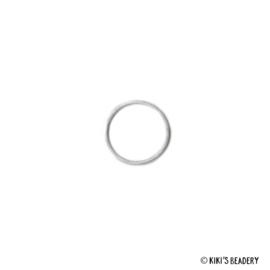 DQ cirkel zilver 14mm tussenzetsel