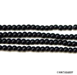 50 stuks Glaskralen 3mm zwart
