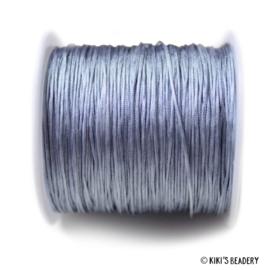 1 meter  grijsblauw macrame nylon koord 0.8mm