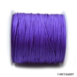1 meter  violet macrame nylon koord 0.8mm