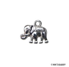 Zilveren Indiase olifantje bedel 14x12mm
