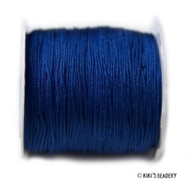 1 meter donker blauw nylon koord 0.8mm