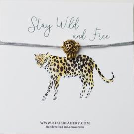 Stay Wild and free - Luipaard kopje bandje