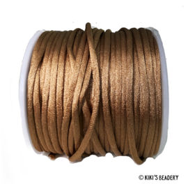 Nylon draad brons bruin  2.5mm