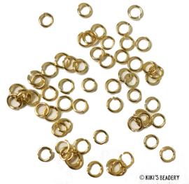 Stainless steel gouden buigringen 4mm