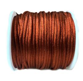 Nylon draad saffier terracota 2.5mm
