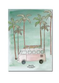 Tropical vibes -  ansichtkaart A6