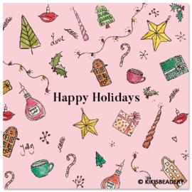 Happy Holidays ansichtkaart