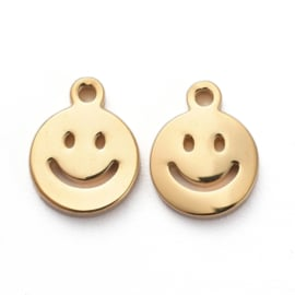 Mini RVS Smiley bedel 6mm