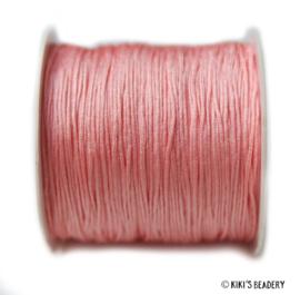 1 meter  roze koraal macrame nylon koord 0.8mm