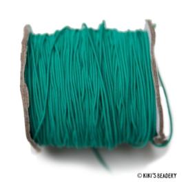 1 meter Elastiek turquoise 1mm