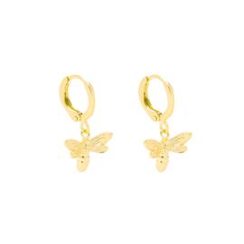 Bee oorbellen goud