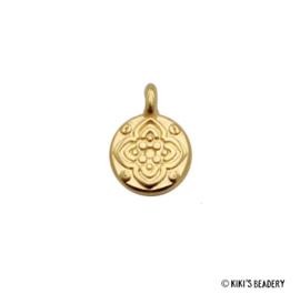 DQ gouden bloemen munt bedel