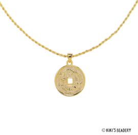 Dragon Mythological coin goud ketting