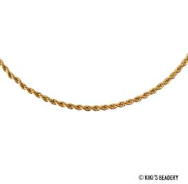Stainless Steel Gevlochten Gouden ketting