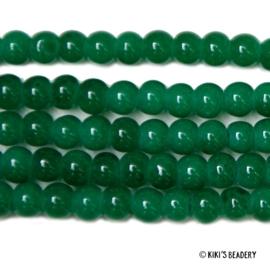 75 stuks Glaskralen 4mm groen