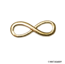 Tussenzetsel infinity 30x10mm goud