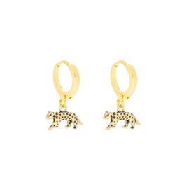 Leopard oorbellen goud