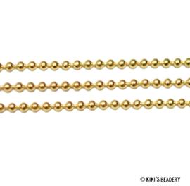 50 cm Bolletjes ketting 1,5mm goud