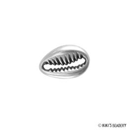 DQ Kauri schelp antiek zilver 12x8mm tussenzetsel