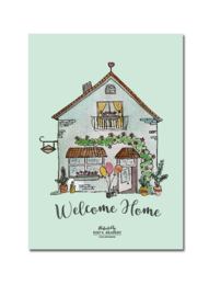 Welcome home -  ansichtkaart A6