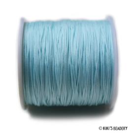 1 meter lichtblauw  macrame nylon koord 0.8mm
