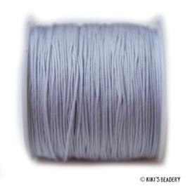 1 meter licht grijs blauw macrame nylon koord 0.8mm