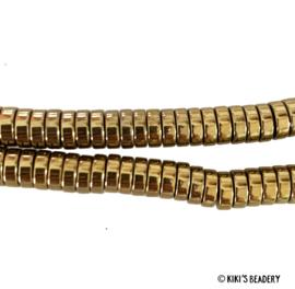 20 stuks electroplated Gouden disc beads licht goud 6x2mm