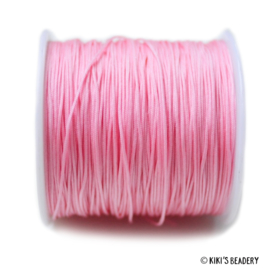 1 meter roze macrame nylon koord 0.8mm