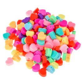 Hartjes kleuren mix 10mm