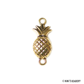 Gouden Ananas 30x11mm tussenzetsel