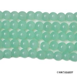 75 stuks Glaskralen 4mm mintgroen
