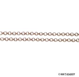 50 cm Ronde gouden schakelketting 2,5 mm