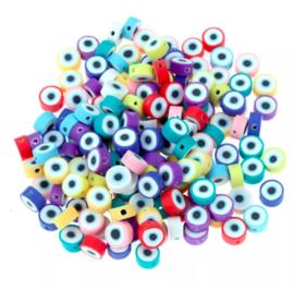 Evil eye kleuren mix 10mm
