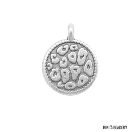 DQ zilveren luipaard print munt bedel