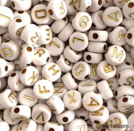 20 gram ronde letterkralen goud