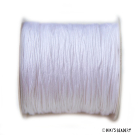 1 meter wit macrame nylon koord 0.8mm