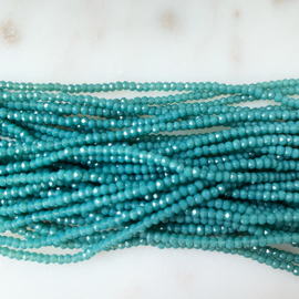 Facet glaskralen saffier blauw 2.5 mm