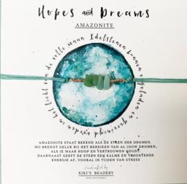 Sieradenkaartje - Hopes & Dreams amazonite