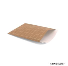 Cadeauzakjes strepen terracota 5 stuks