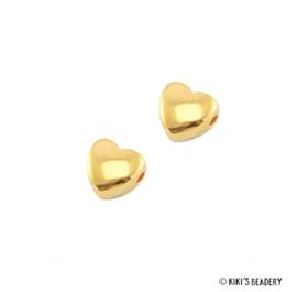 2 stuks DQ Hartje rond 6 mm