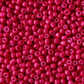 Rocailles 2mm Framboos rood