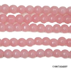 75 stuks Glaskralen 4mm roze