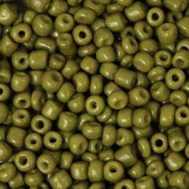 Rocailles 3mm olijf Groen