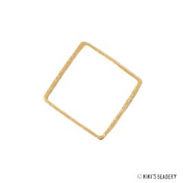 Vierkantje goud  tussenzetsel 10x10mm