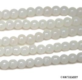 75 stuks Glaskralen 4mm wit
