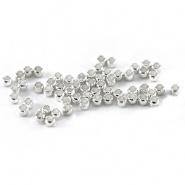 2.5 gram Knijpkralen 2,0 cm zilver ca. 220 stuks