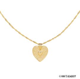 Locked in love heart goud